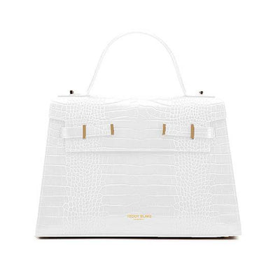 "Ava Croco Gold 14"" - White"