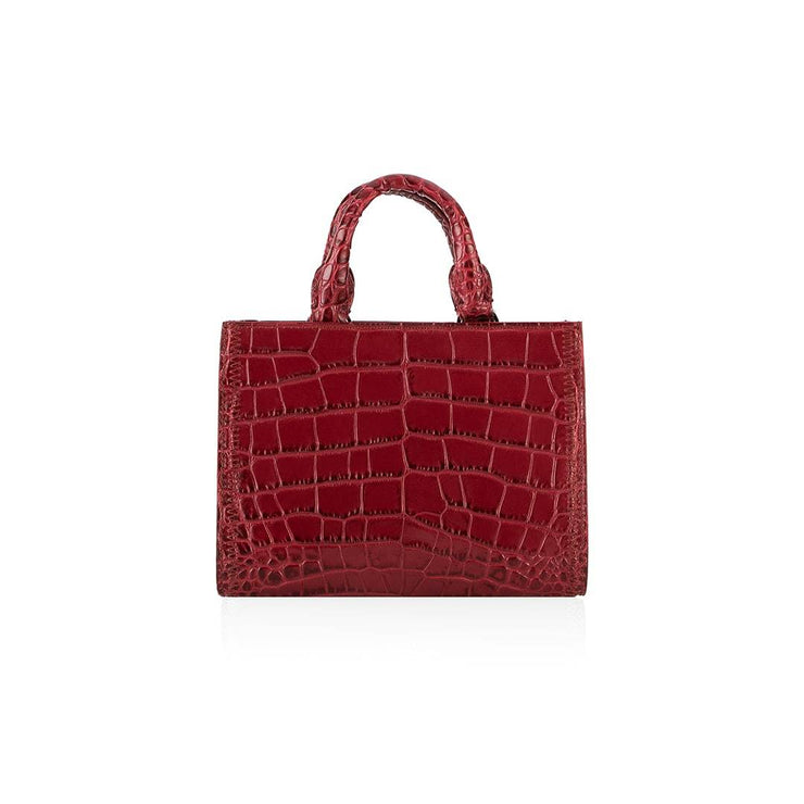 Adelia Croco Small - Bordeaux