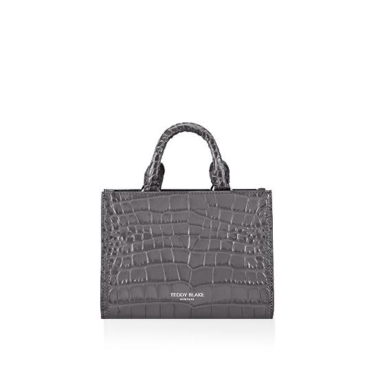 Adelia Croco Small - Dark Grey