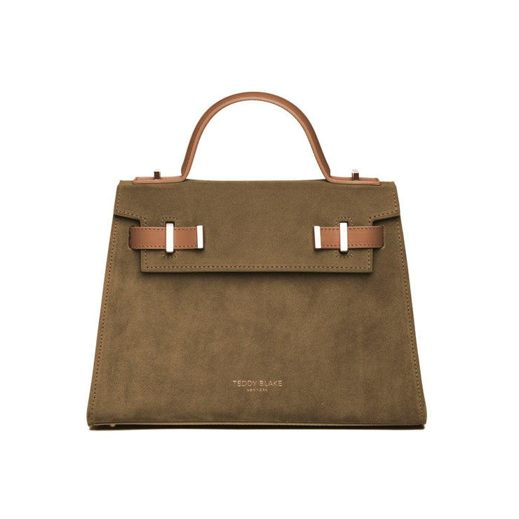 "Ava Duo Leather Gold 11"" - Army Green&Camel"