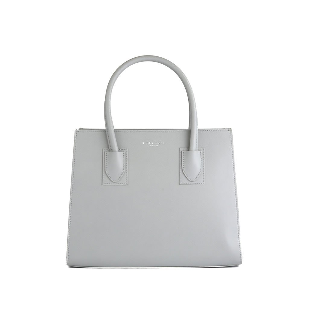 "Kara Saffiano 12"" - Light Grey"