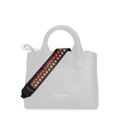 Leather Strap Media Silver - Red&Yellow