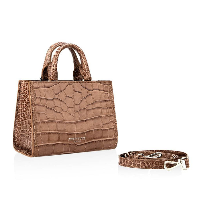 Adelia Croco Small - Taupe