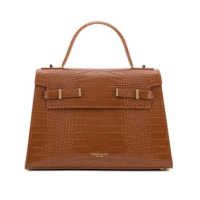 "Ava Croco Gold 14"" - Camel Brown"
