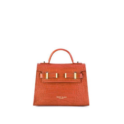 "Ava Croco Gold 9"" - Dark Orange"