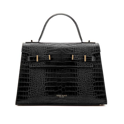"Ava Croco Gold 14"" - Black"