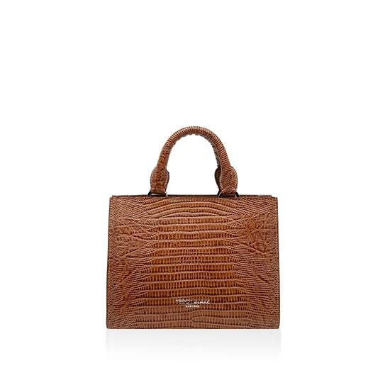 Adelia Lizzard Small - Camel Brown