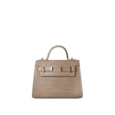 "Ava Croco Gold 9"" - Light Beige"
