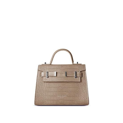 "Ava Croco Silver 9"" - Light Beige"