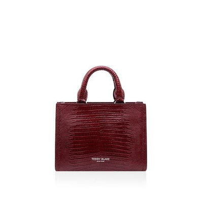 Adelia Lizzard Small - Dark Red