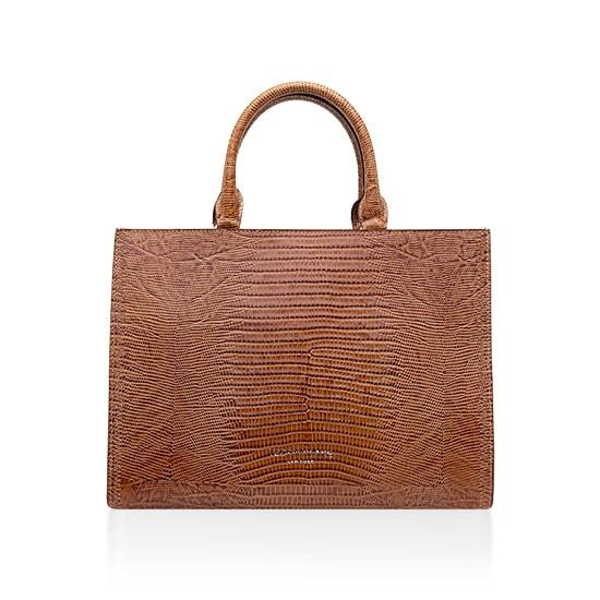 Adelia Lizzard Large - Camel Brown