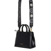 Flower Leather Strap Gold - Black