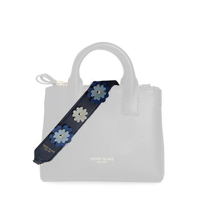Flower Leather Strap Gold - Blue Jeans