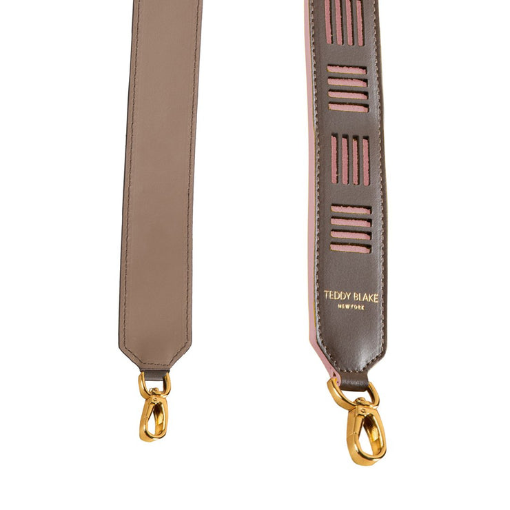 Duo Leather Strap Gold - Beige & Pink