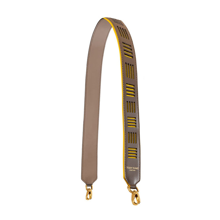 Duo Leather Strap Gold - Beige & Yellow