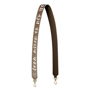 Mitony Leather Strap Gold - Beige&White