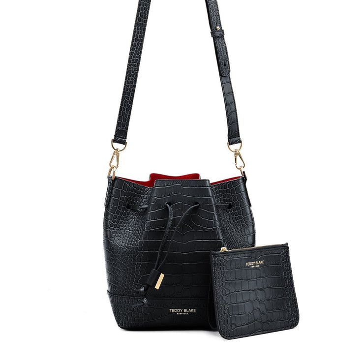 "Eliza Croco 9"" - Black&Red"
