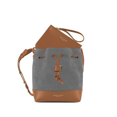 "Eliza Duo Leather 9"" - Camel Brown&Grey"