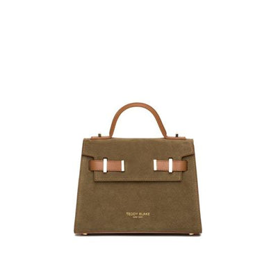 "Ava Duo Leather Gold 9"" - Army Green&Camel"