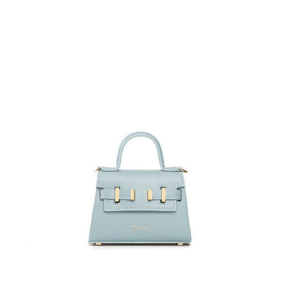 "Ava Vitello Gold 6"" - Light Blue"