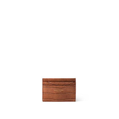 TB Cardholder Croco - Camel Brown