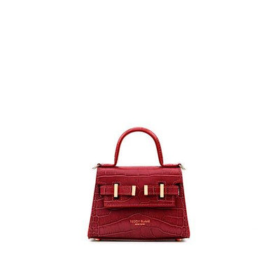 "Ava Croco Gold 6"" - Dark Red"