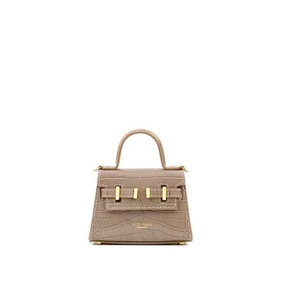 "Ava Croco Gold 6"" - Light Beige"