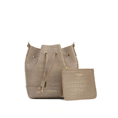 "Eliza Croco 9"" - Light Beige"