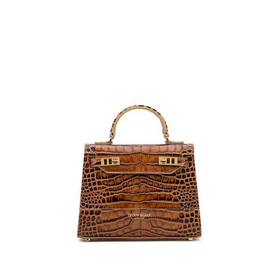"Kim Croco 9"" - Brown"
