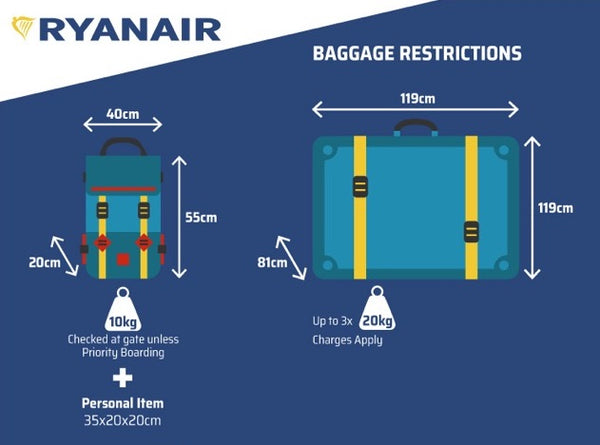 New Ryanair Approved Cabin Bags