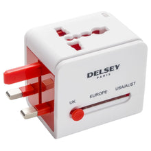 Load image into Gallery viewer, Universal electrical plug adaptor with 2 usb connections
