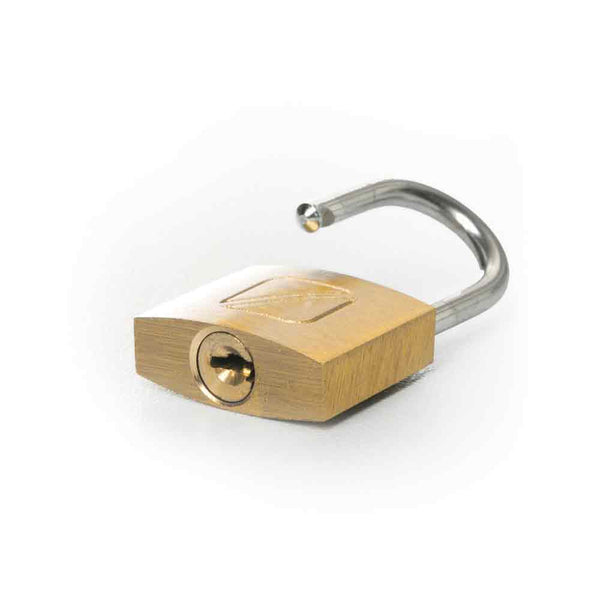 Suitcase Padlock - Key - 20mm - Brass