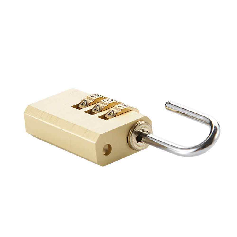 Suitcase Padlock - 3 Dial Combination -
