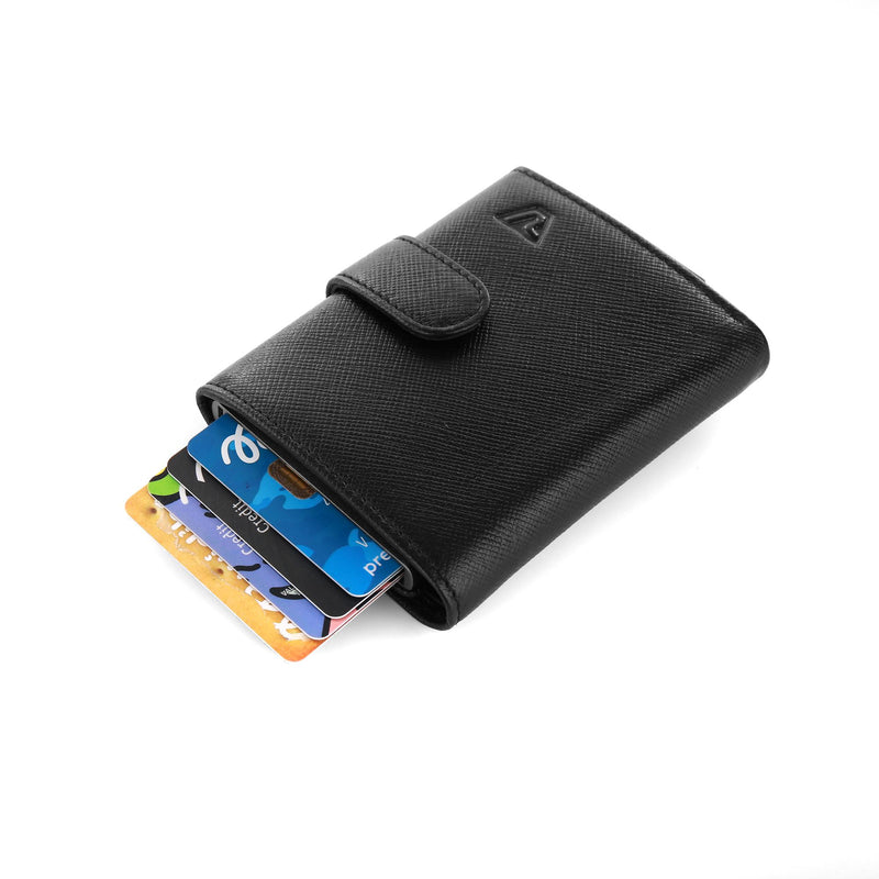 IRON CREDIT CARD HOLDER WITH CASH HOLDER AND POCKET FOR COINS