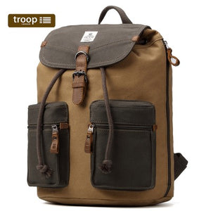 HERITAGE CANVAS LEATHER BACKPACK