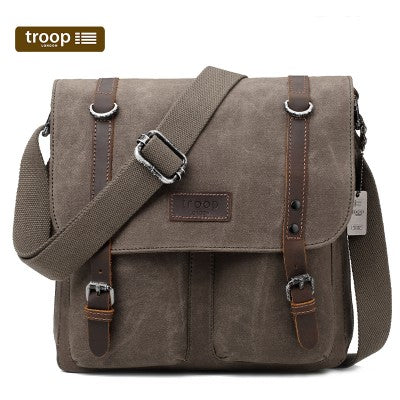 HERITAGE CANVAS LEATHER MESSENGER BAG