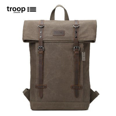 HERITAGE CANVAS LEATHER LAPTOP BACKPACK UP TO 15.6 INCH