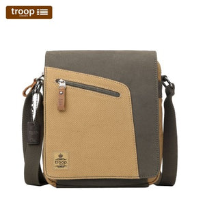 HERITAGE CANVAS LEATHER SHOULDER BAG