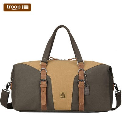 HERITAGE CANVAS LEATHER TRAVEL DUFFEL BAG