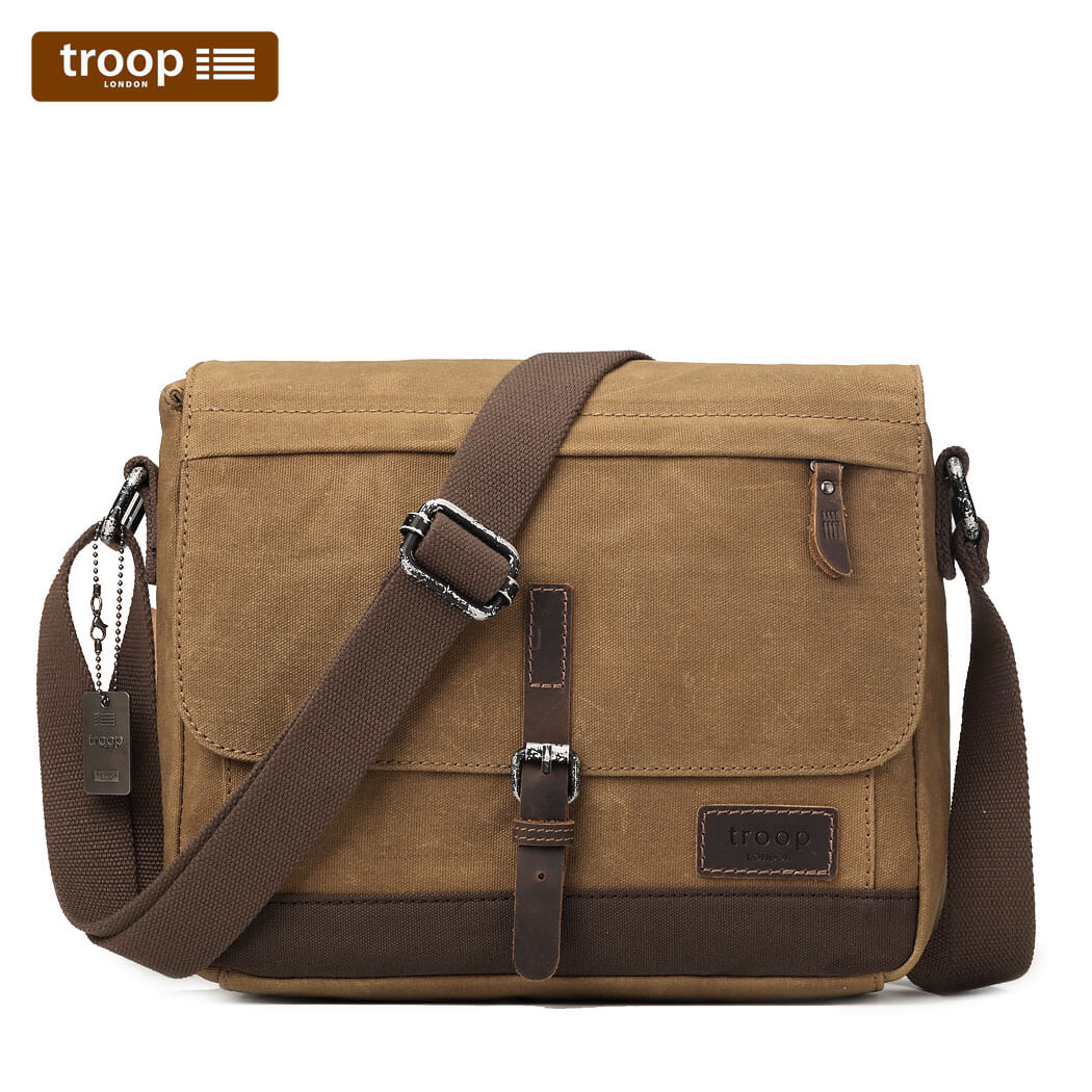 4727a47111f1 HERITAGE CANVAS LEATHER MESSENGER BAG – Travellers