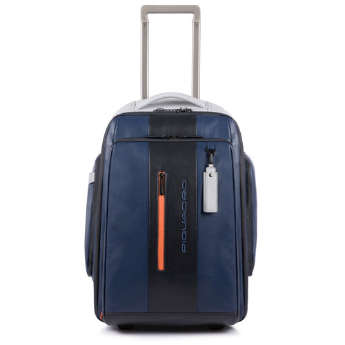 Cabin size, customizable PC and iPad® trolley/backpack with USB and micro-USB enclosure and CONNEQU