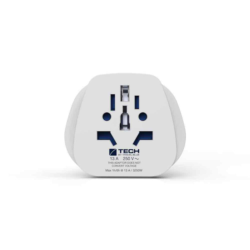 World to UK Travel Adaptor - Earthed