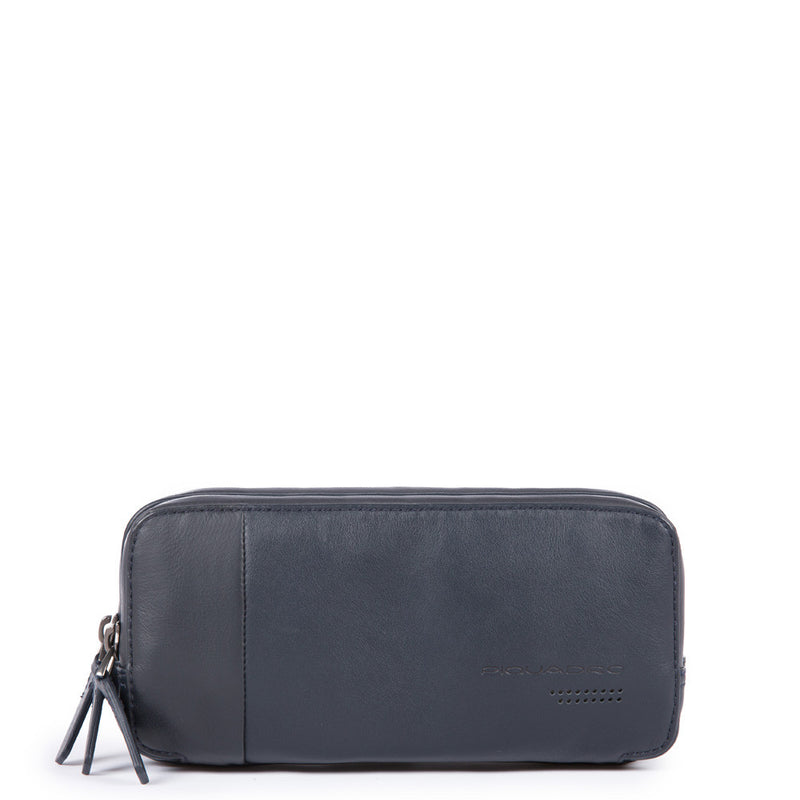Case with three dividers and wrist strap