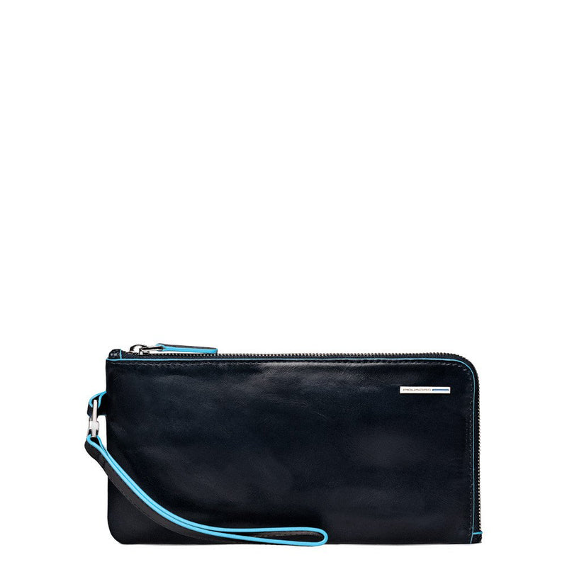Men's clutch Blue Square