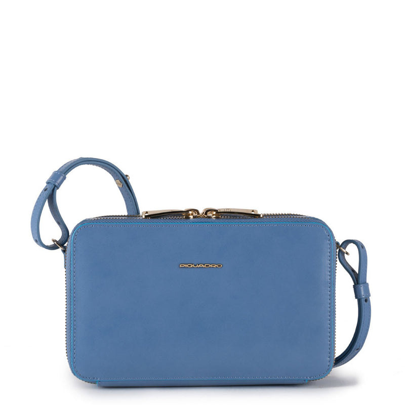 Blue Square Crossover bag with removable shoulder strap