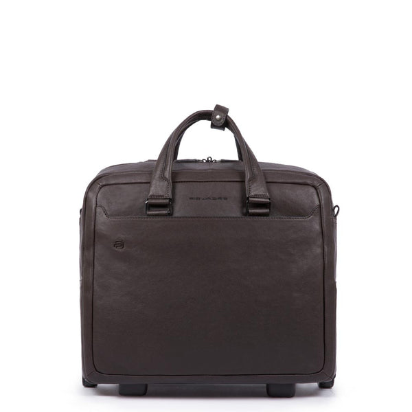Wheeled computer briefcase with iPad®10,5''/9,7'' Black Square