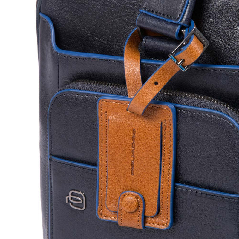 "Expandable computer brief with iPad®10,5''/9,7"" compartment, two front pockets and umbrella pocket Blue Square Special"