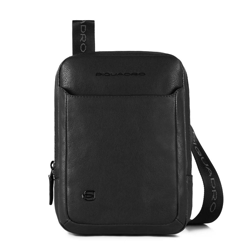 Organized pocket crossbody bag with iPad®mini compartment Black Square