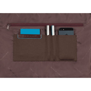 Double handle computer portfolio briefcase Blue Square