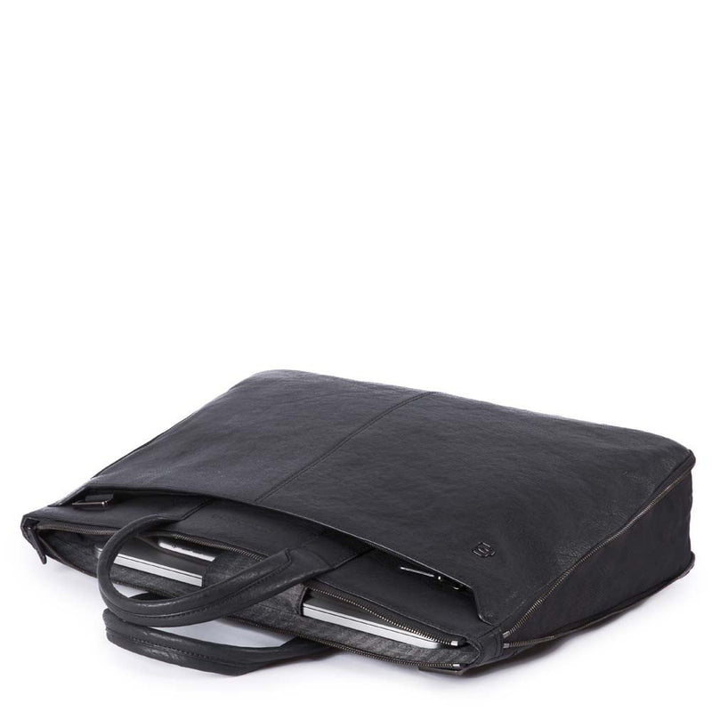 Slim expandable laptop briefcase with 10.5 - 9.7 Black Square